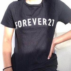 forever 21 logo black t shirt